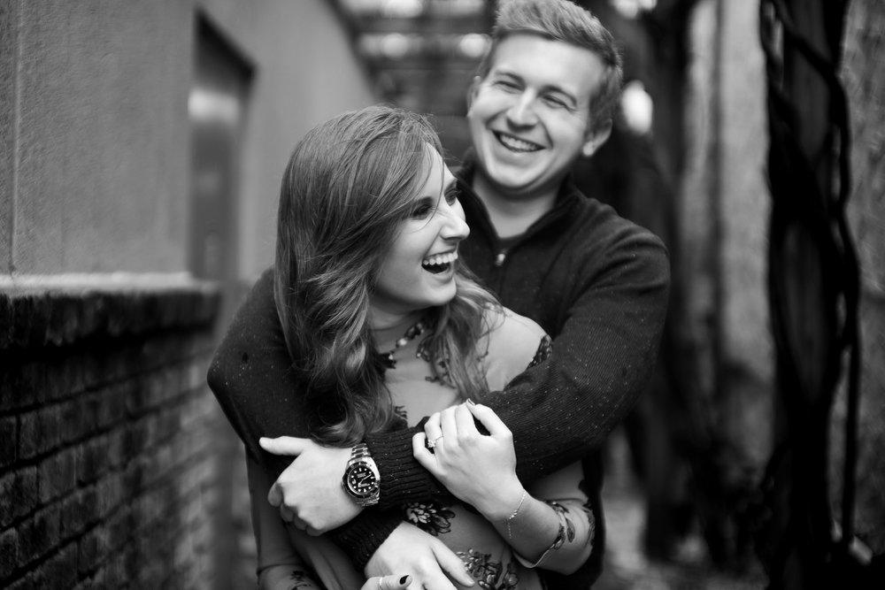 rainy day engagement session in blowing rock by Ariana Hurdle