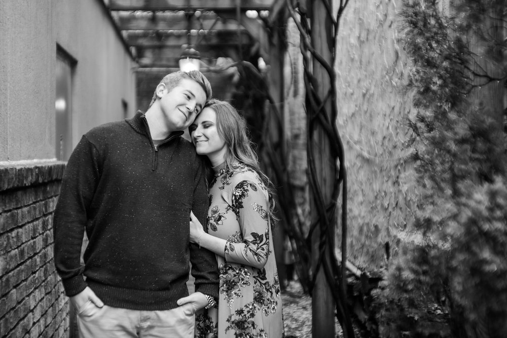 rainy blowing rock engagement session by Ariana Hurdle