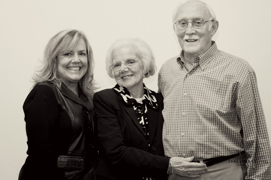 my aunt marie, uncle bud, and their daughter...loreen, the first on the left.  taken last year at my grandmother's 85th birthday surprise!