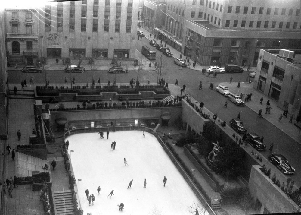 Skating at the Rock, December, 1945