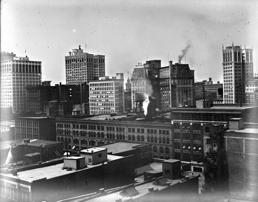 Downtown Detroit, circa 1915