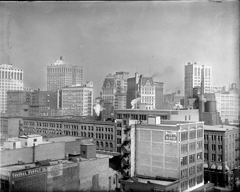 Detroit Skyline, circa 1915