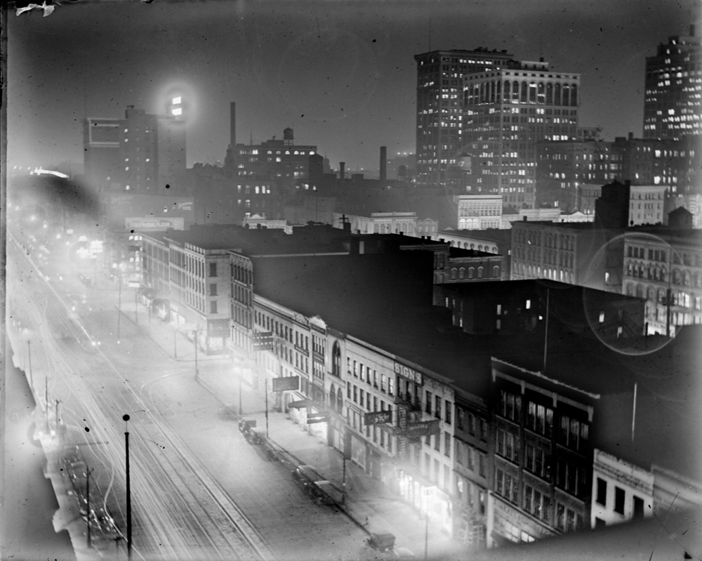 Detroit at Night, circa 1915.