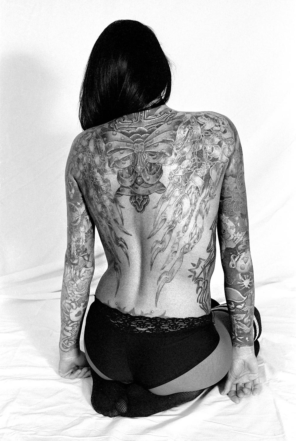 Lydia, the tattooed lady.