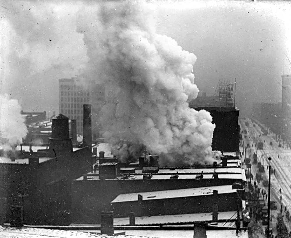 Downtown Detroit Fire, circa 1915
