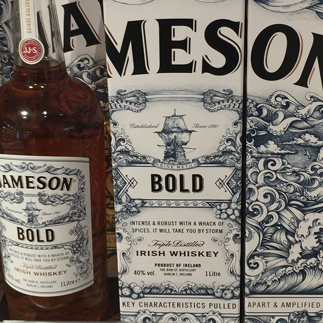 Some #brands are bland, but others are BOLD  Great to see @jamesonwhiskey taking some risks with their new #packaging #design  Reminds me of a discussion once upon a time with @omaniblog - is BOLD too bold a name for an #Irish agency?