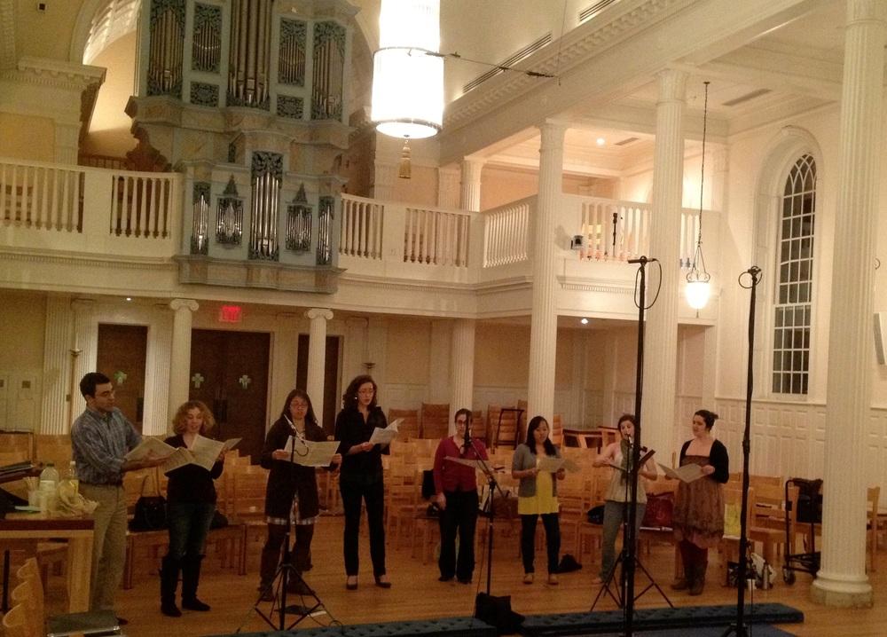 """Recording Rheinberger's """"Wie lieblich sind deine Wohnungen"""" in Marquand Chapel, Yale Divinity School"""