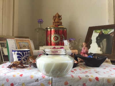 Rebecca's Alter of Ganesh, candy is often an offering.