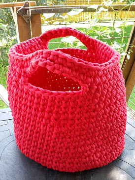 big red basket