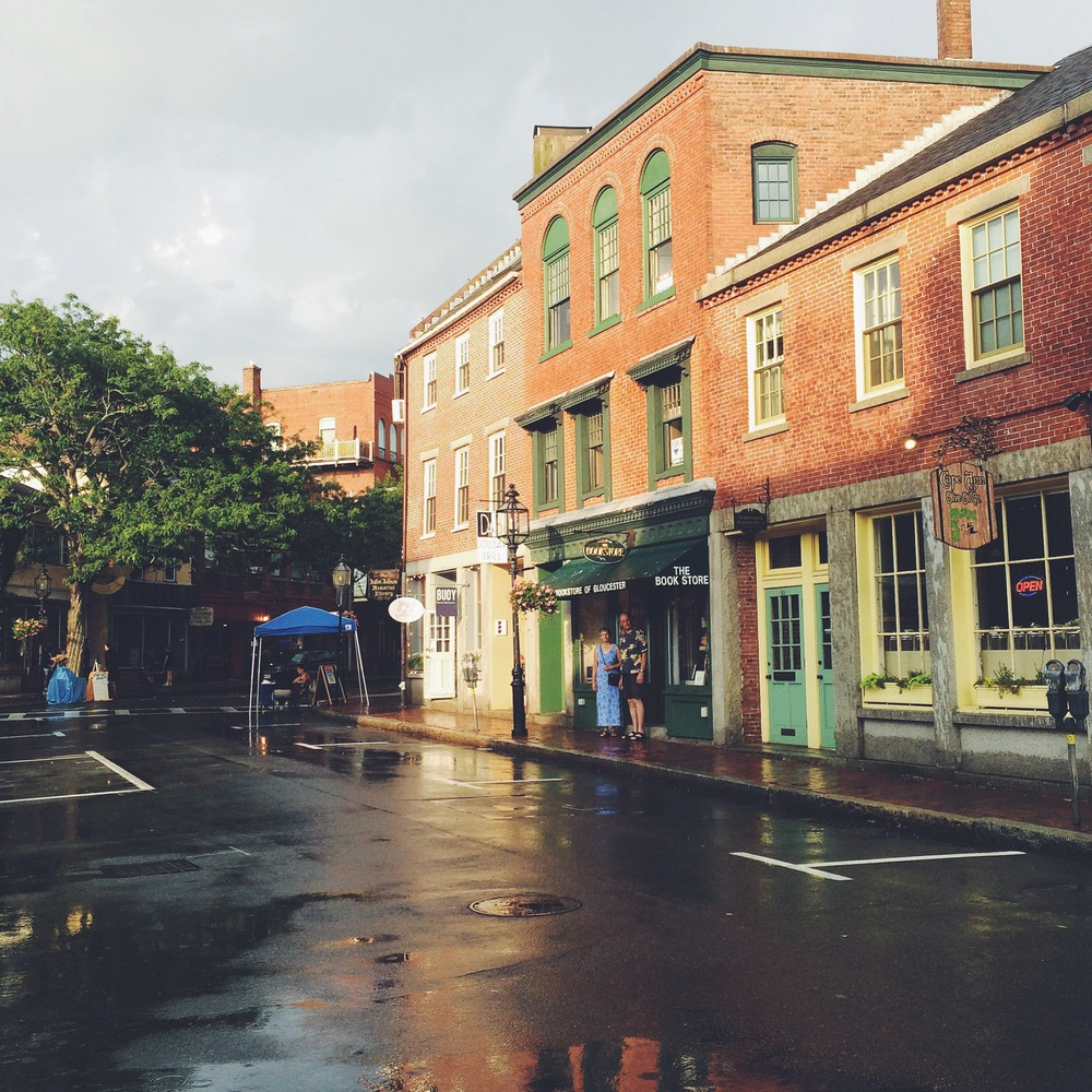 Main Street in Gloucester, just after a thunderstorm