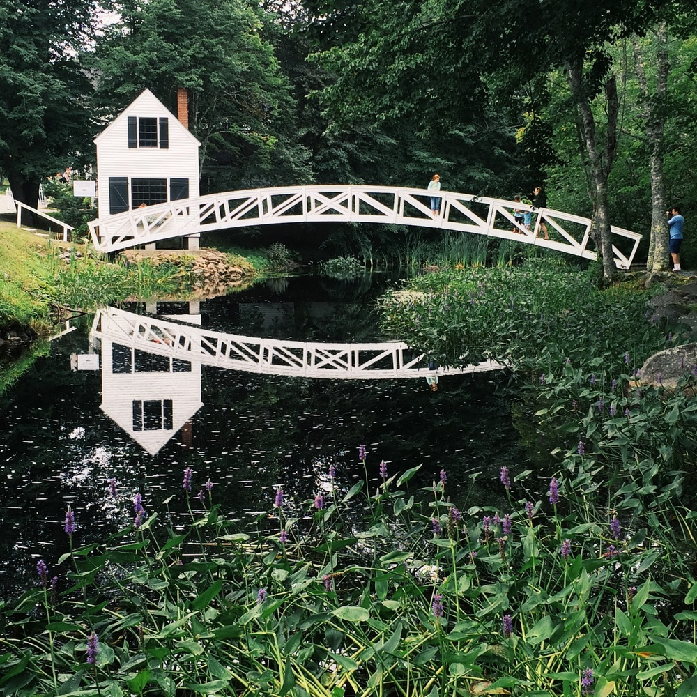 A cute bridge in Somesville, a crossroads in the middle of the island.
