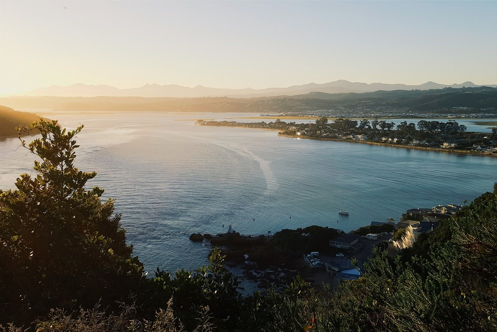 Sunset overlooking Knysna, a coastal town on South Africa's Garden Route.