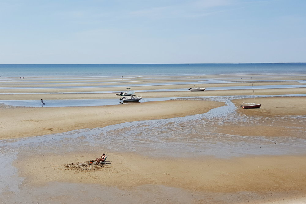 Super low tide at Thumpertown Beach in Eastham.