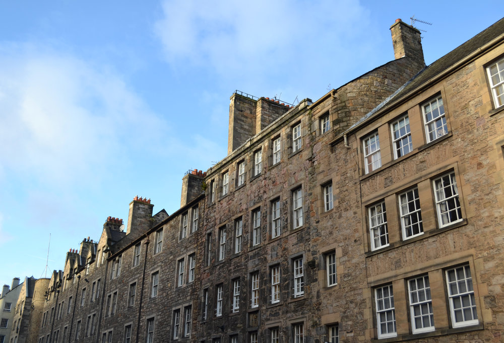 Along the Royal Mile in Edinburgh's Old Town.