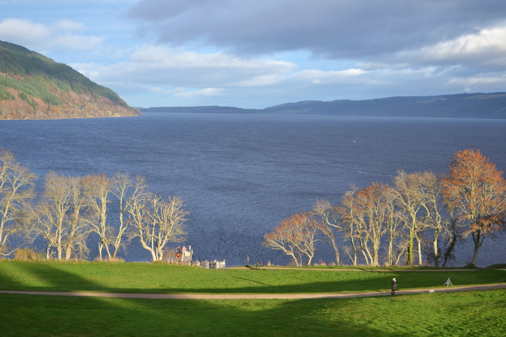 Overlooking Loch Ness from Urquhart Castle.
