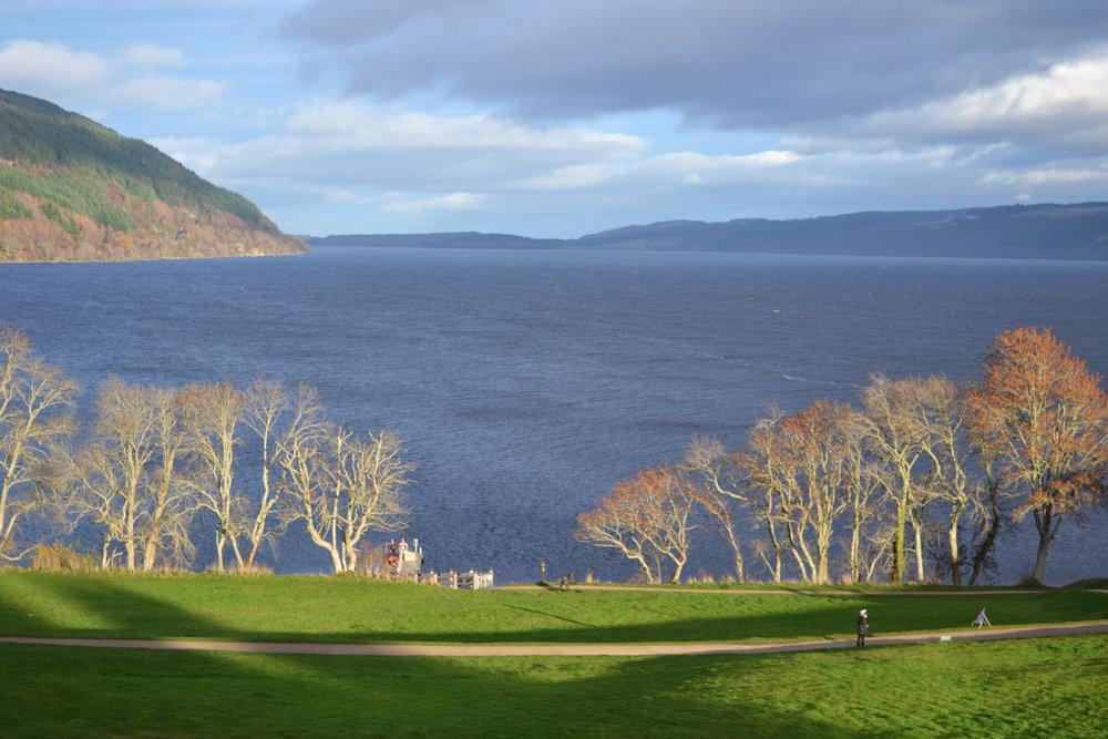 Overlooking Loch Ness from Urquhart Castle.