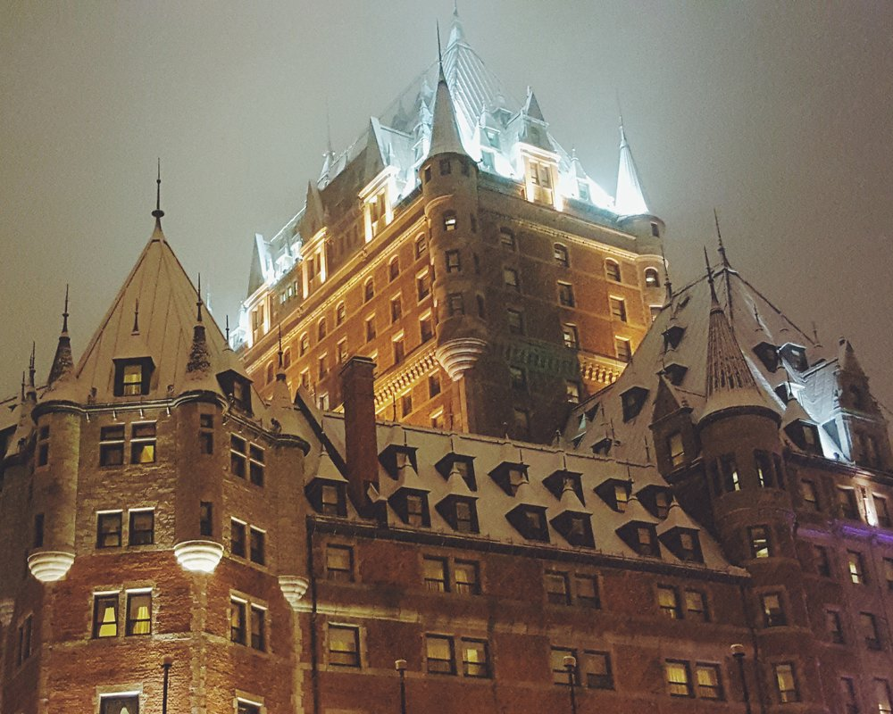 The famous Fairmont Le Château Frontenac in the Upper Town, which passes really well for an old renovated castle.