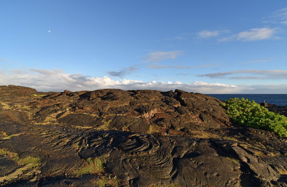 Near the Hōlei Sea Arch in Hawai'i Volcanoes National Park.