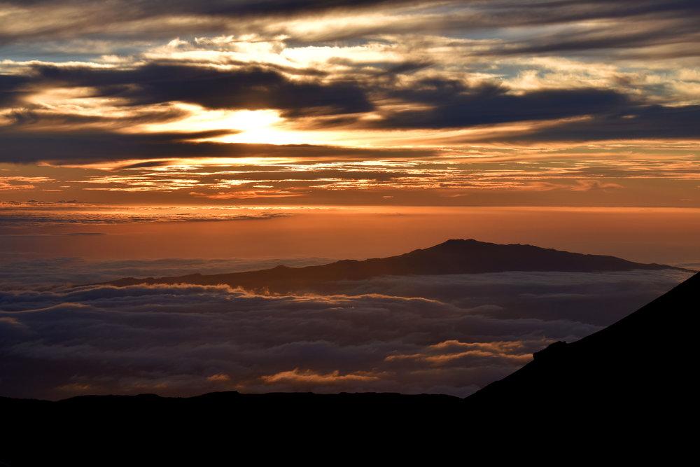 Looking west-southwest, towards Kona, from the summit of Mauna Kea.