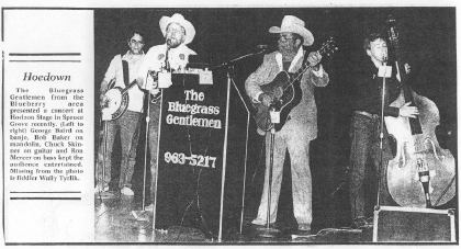 1987 - Chuck Skinner & The Bluegrass Gentlemen