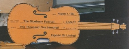 1989 - Imperial Oil donation cheque