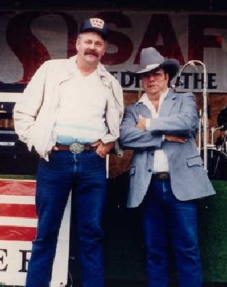 1989 - Unknown volunteer & Chuck Skinner