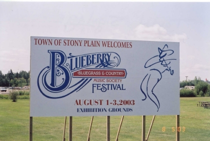 2003 - Blueberry Sign