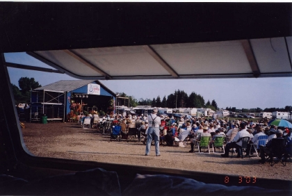 2003 - View from President Norm Sliter's trailer