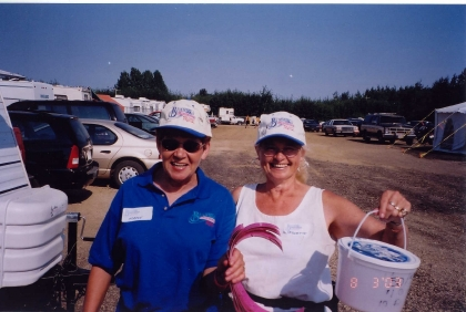 2003 - Marge Sliter & Janette Massey selling 50-50 tickets