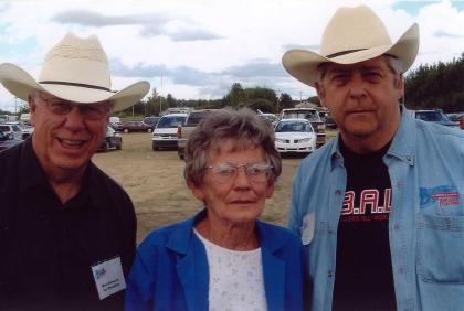 2004 - VP Dave Johnston, founding member Shirley Skinner, & President Norm Sliter