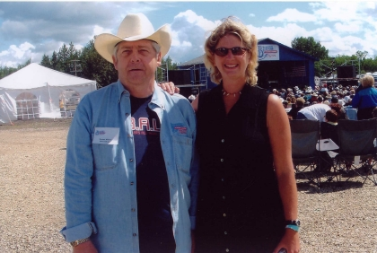 President Norm Sliter with Jenny Lester