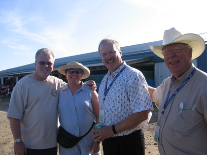 2006 - Bob & Anne Glidden, Terry Mumford of the Spinney Brothers, & Dave Johnston