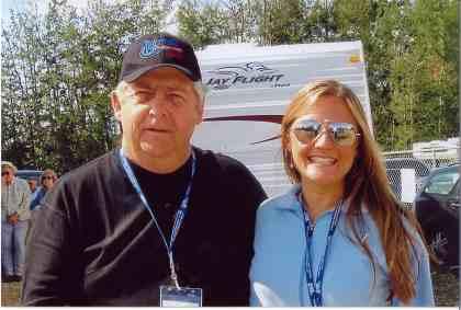 2006 - Blueberry President Norm Sliter with Hit & Run's Rebecca Hogan