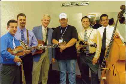 2006 - Norm Sliter backstage with the Del McCoury Band