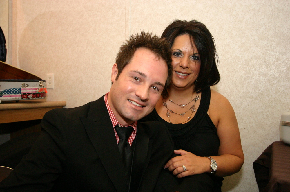 2010 - Joe Dean Jr. of Dailey & Vincent with his sweetheart backstage