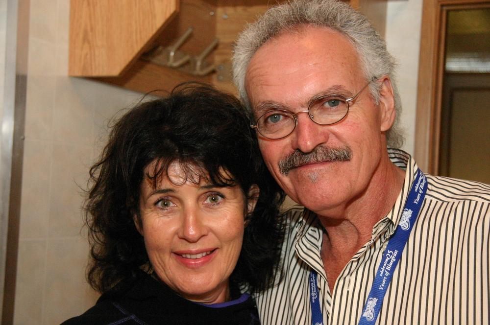 2010 - Blueberry volunteer Anna Somerville with Terry Baucom of the Mashville Brigade