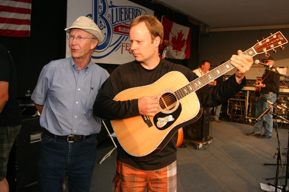 2010 - Alfie & Byron Myhre with the one of a kind Blueberry customized Martin Guitar raffle prize