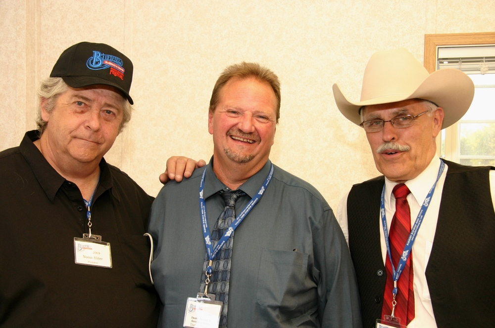 2009 - Blueberry President Norm Sliter, Danny Paisley & George McKnight