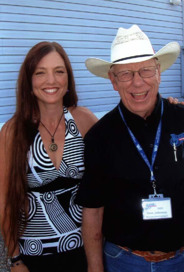 2009 - Trisha Gagnon (John Reischman & The Jaybirds) with Blueberry Entertainment Director Dave Johnston