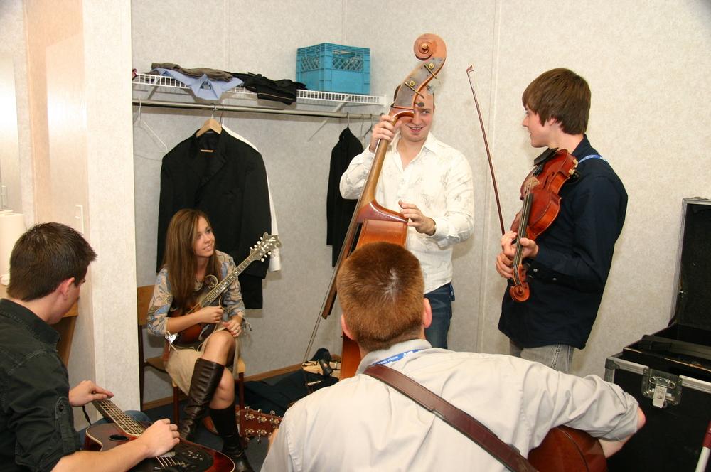 2009 - Sierra Hull & Highway 111 backstage