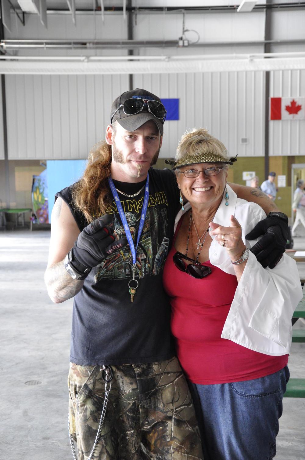 2012 - Blueberry Volunteers Heath Sliter & Janette Massey