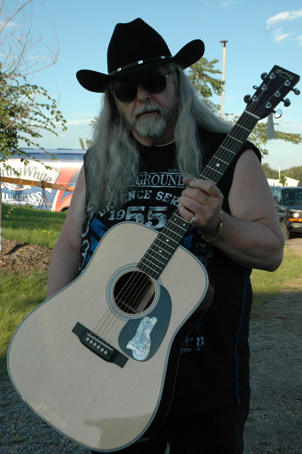 2012 - Blueberry President Norm Sliter with the 2012 Custom Martin Guitar Raffle Prize