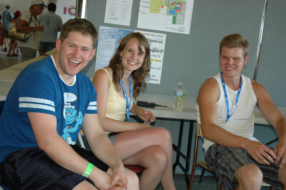 2012 - Blueberry Volunteer (First Aid) Erin Kushniruk with Jeff Reiter & Davin Larsgard