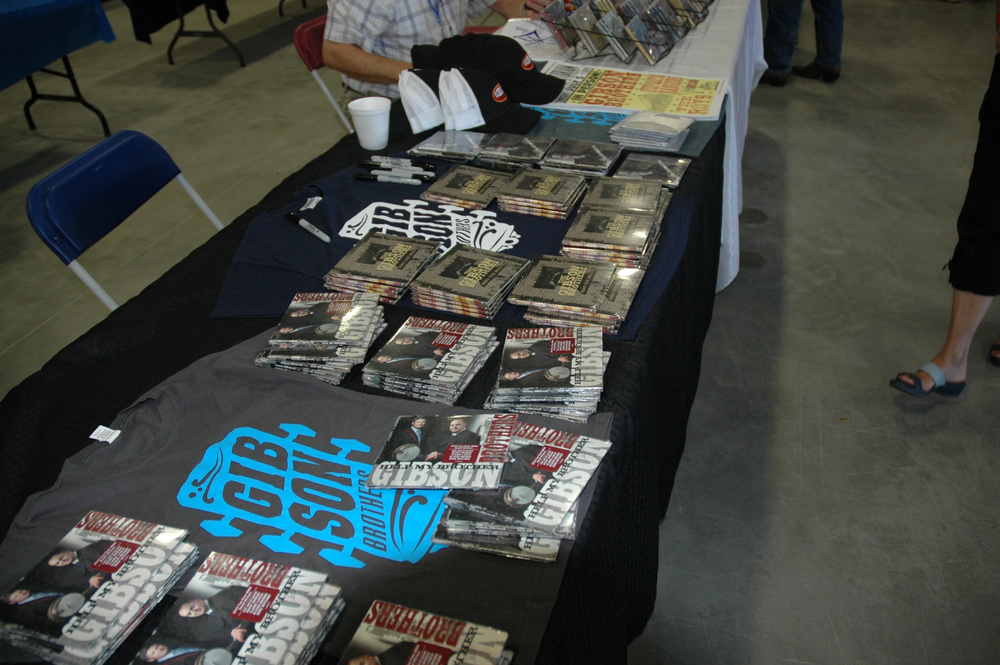 2012 - The Gibson Brothers - Merch Table