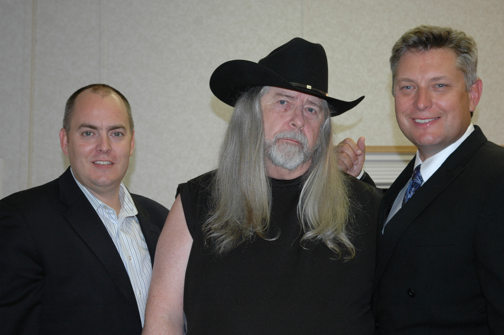 2012 - The Gibson Brothers with Blueberry President Norm Sliter