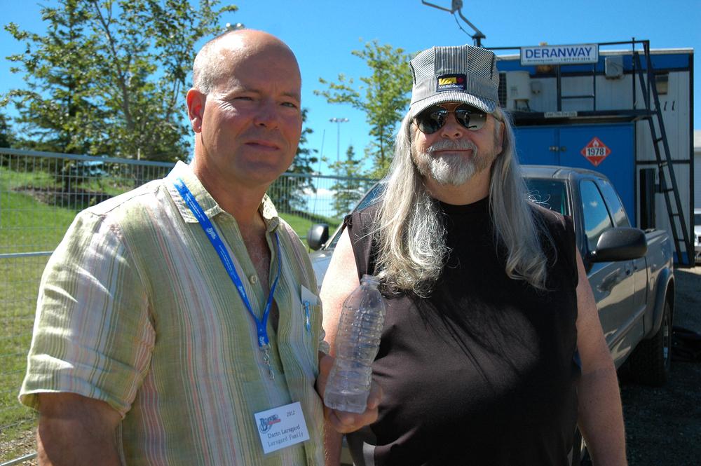 2012 - Darin Larsgard with Blueberry President Norm Sliter
