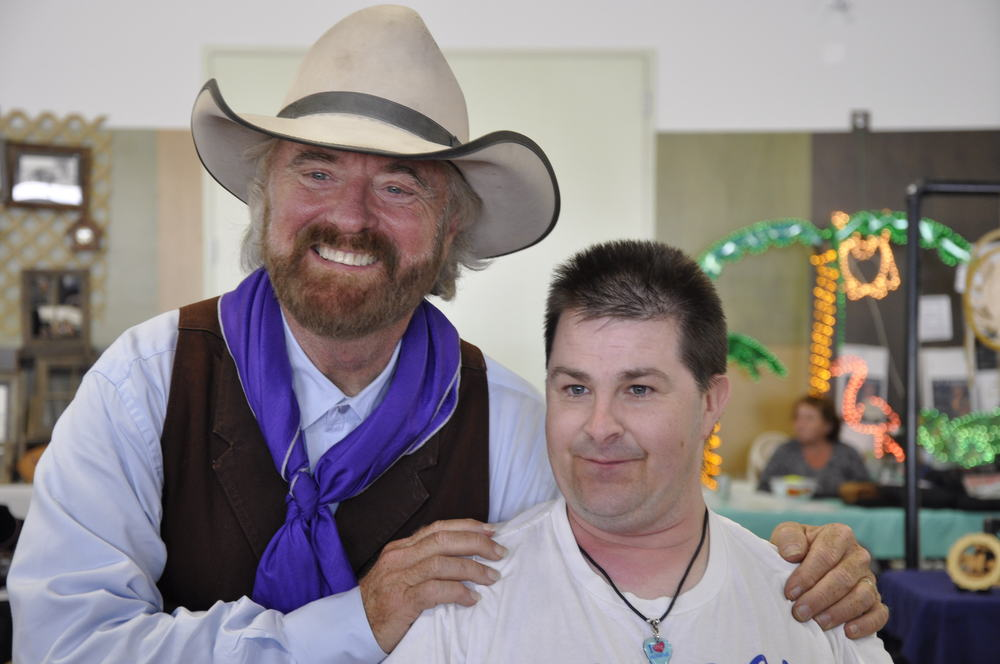2012 - Michael Martin Murphey with a fan