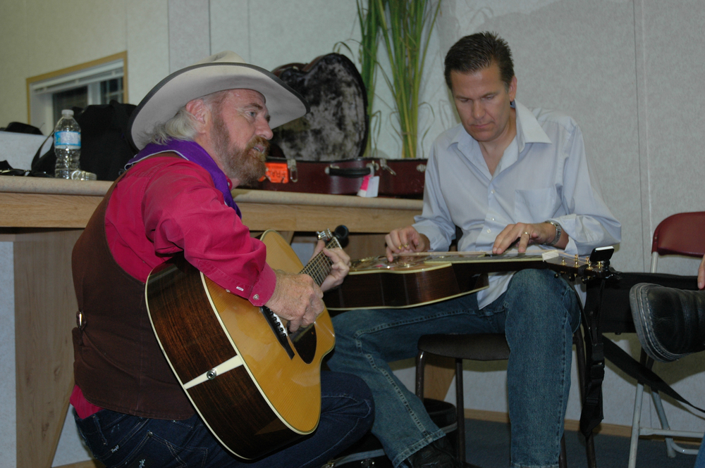 2012 - Michael Martin Murphey & Rob Ickes backstage