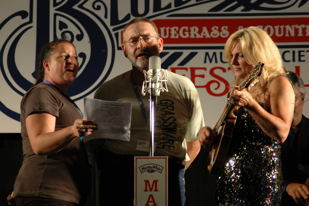 2012 - Michelle Dentinger Guidera, Pat Guidera (Blueberry Entertainment Director) & Rhonda Vincent