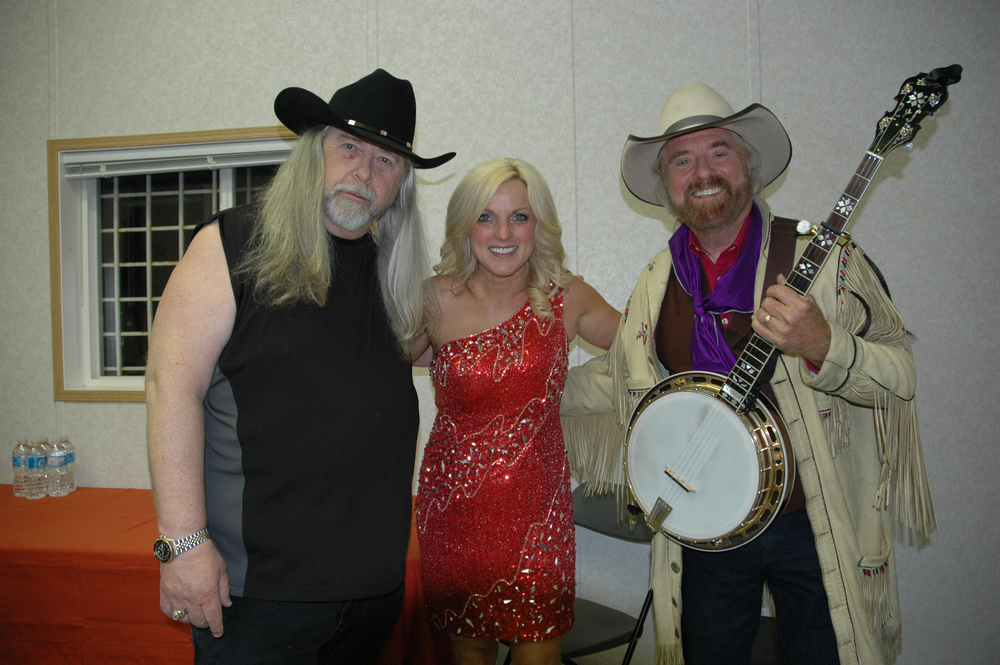 2012 - Blueberry President Norm Sliter backstage with Rhonda Vincent & Michael Martin Murphey